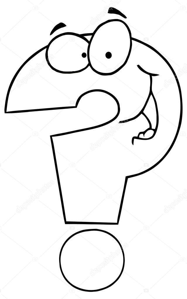 Animado: signo de interrogacion para colorear | personaje de dibujos ...