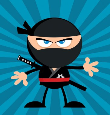 Angry Ninja Warrior Cartoon