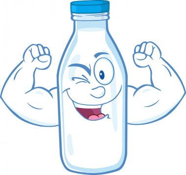 Milk Bottle  Showing Muscle Arms