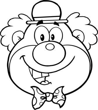 Funny Clown Head
