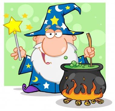 Wizard Preparing A Potion