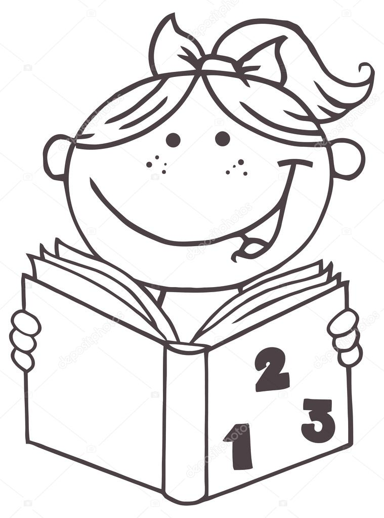 Imágenes: animadas de lectura para colorear | libro de lectura chica ...
