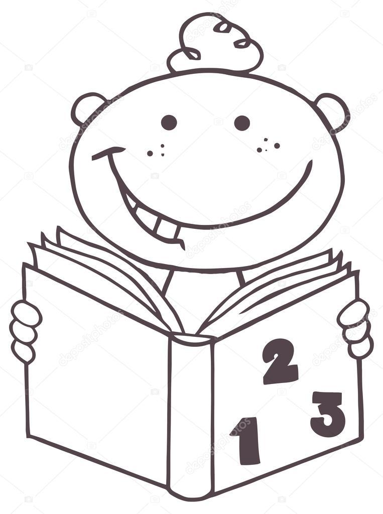 Niños lectores para colorear | bruiloft decorlibro de lectura chico ...