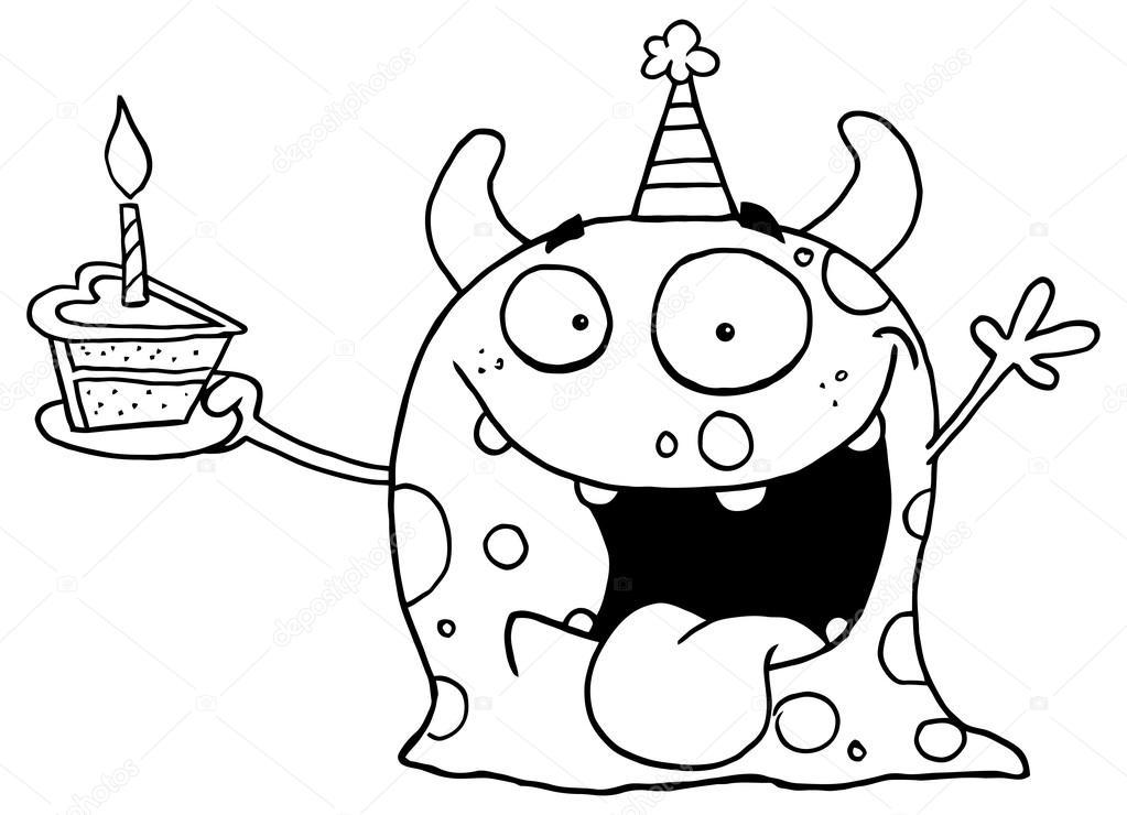 personaje de dibujos animados monstruo — Archivo Imágenes ...
