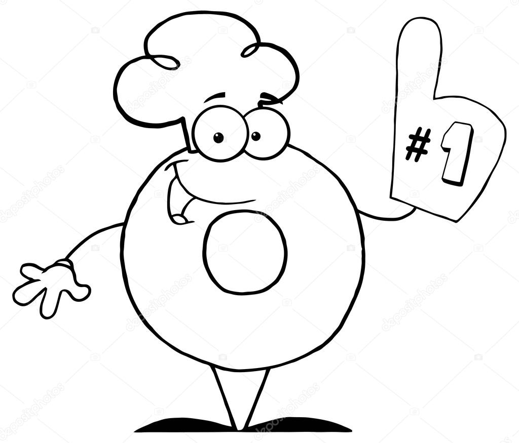 Animado Numero Uno Para Colorear Dibujos Animados Donut