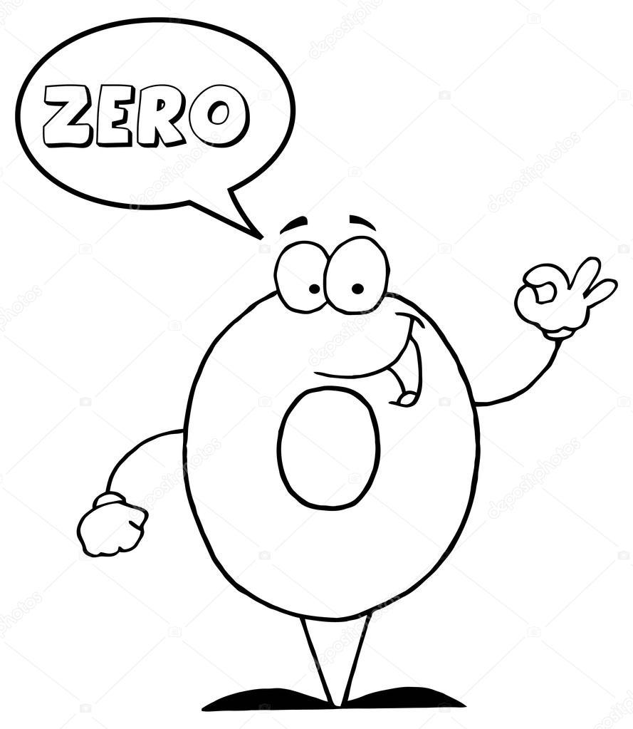 Cartoon number zero ch... Zero Cartoon Character