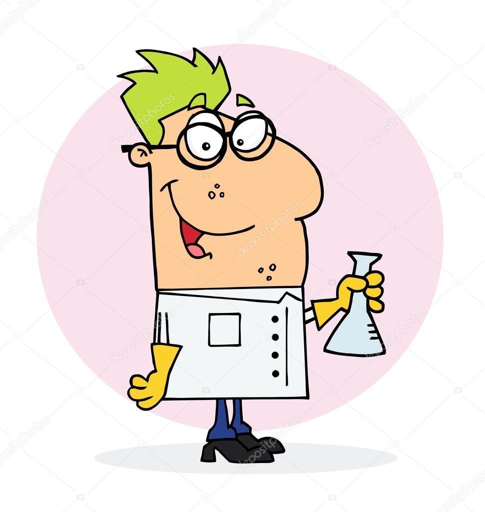 personagem de desenho animado cientista vetor de stock hittoon
