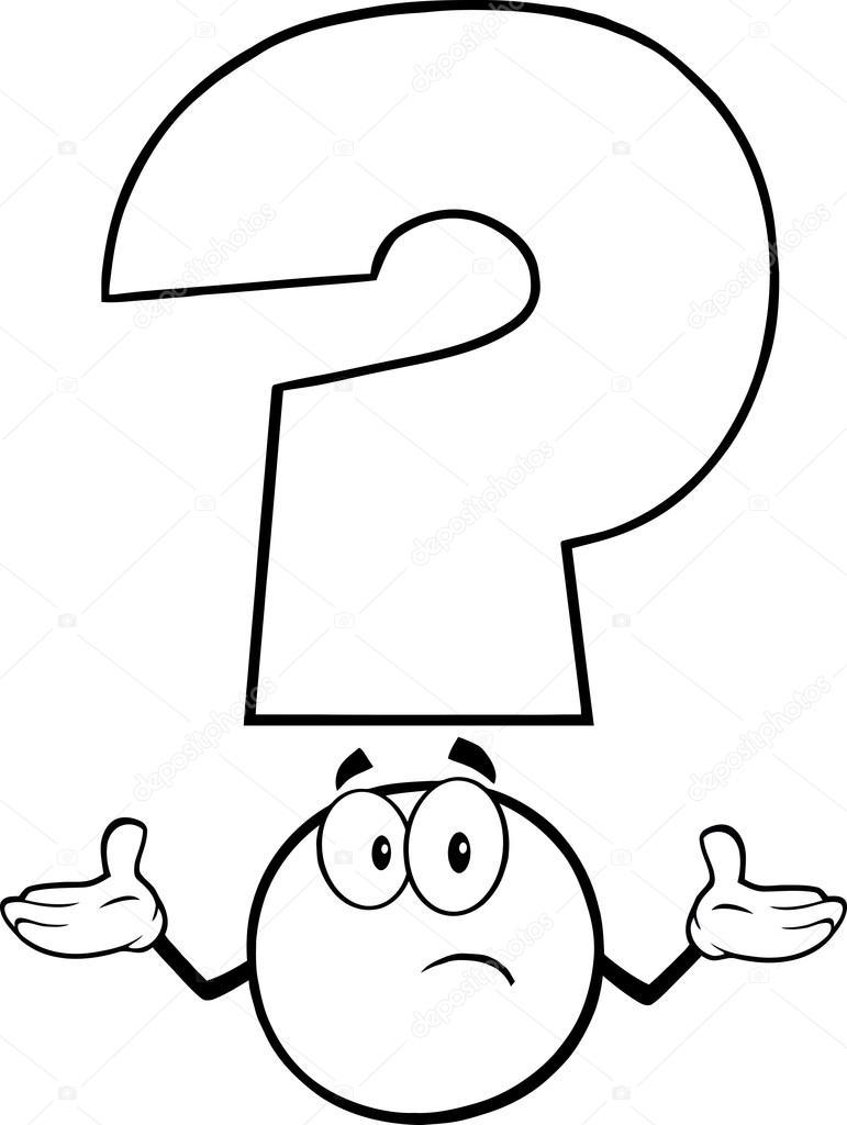 Art Line Questions : Vit frågetecken — stock vektor hittoon