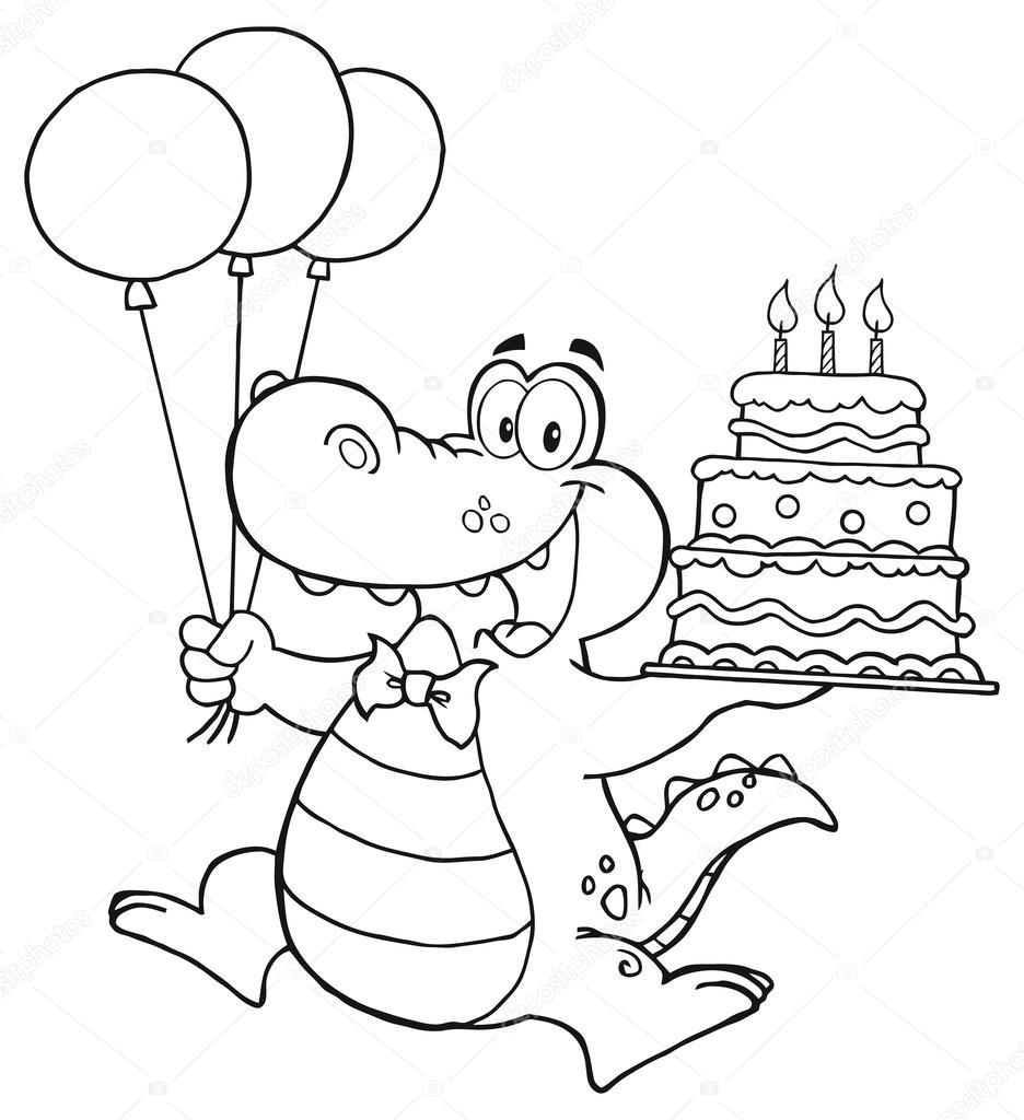 Personaje de dibujos animados cocodrilo — Archivo Imágenes ...