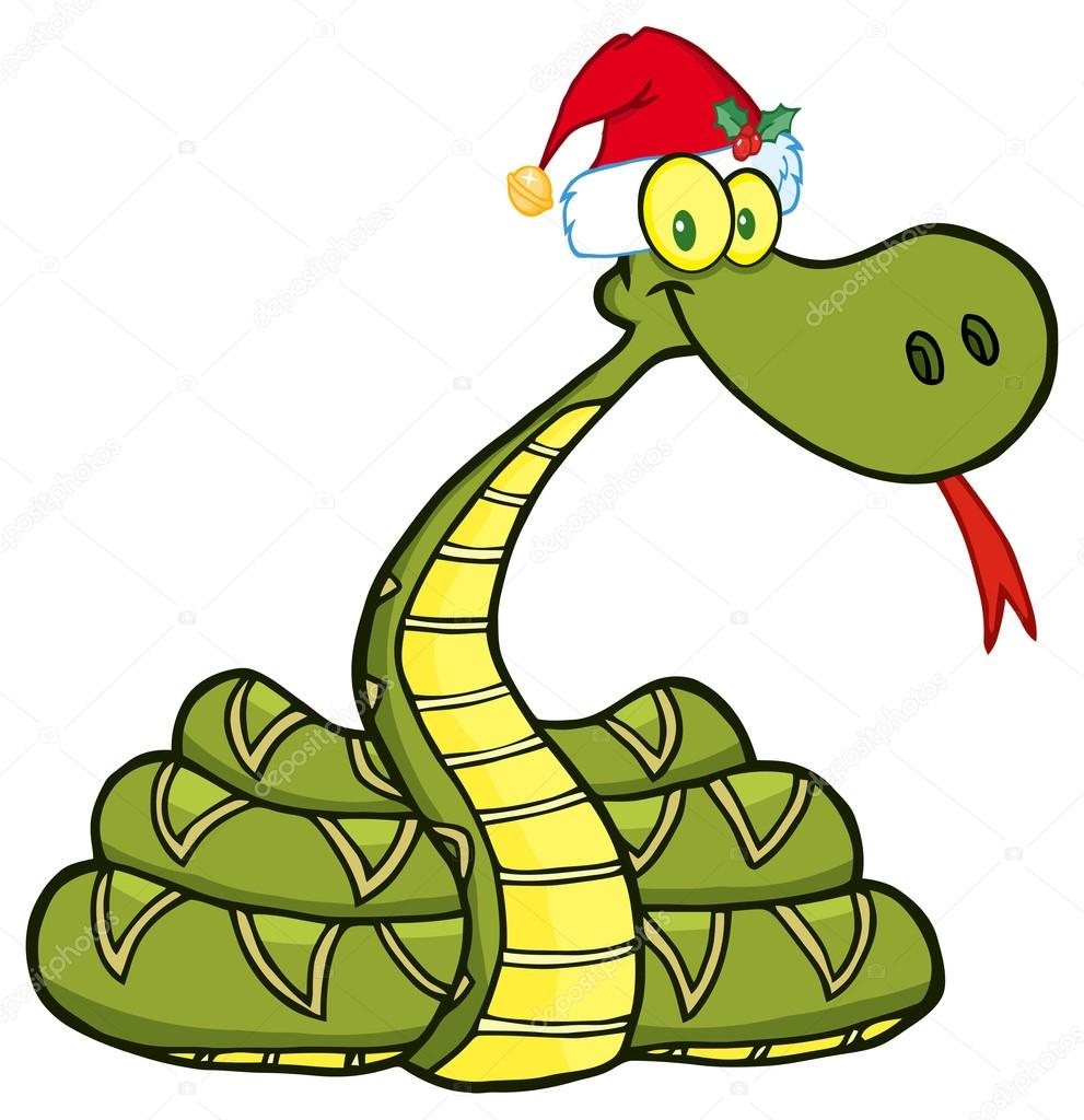 Snake  With Santa Hat