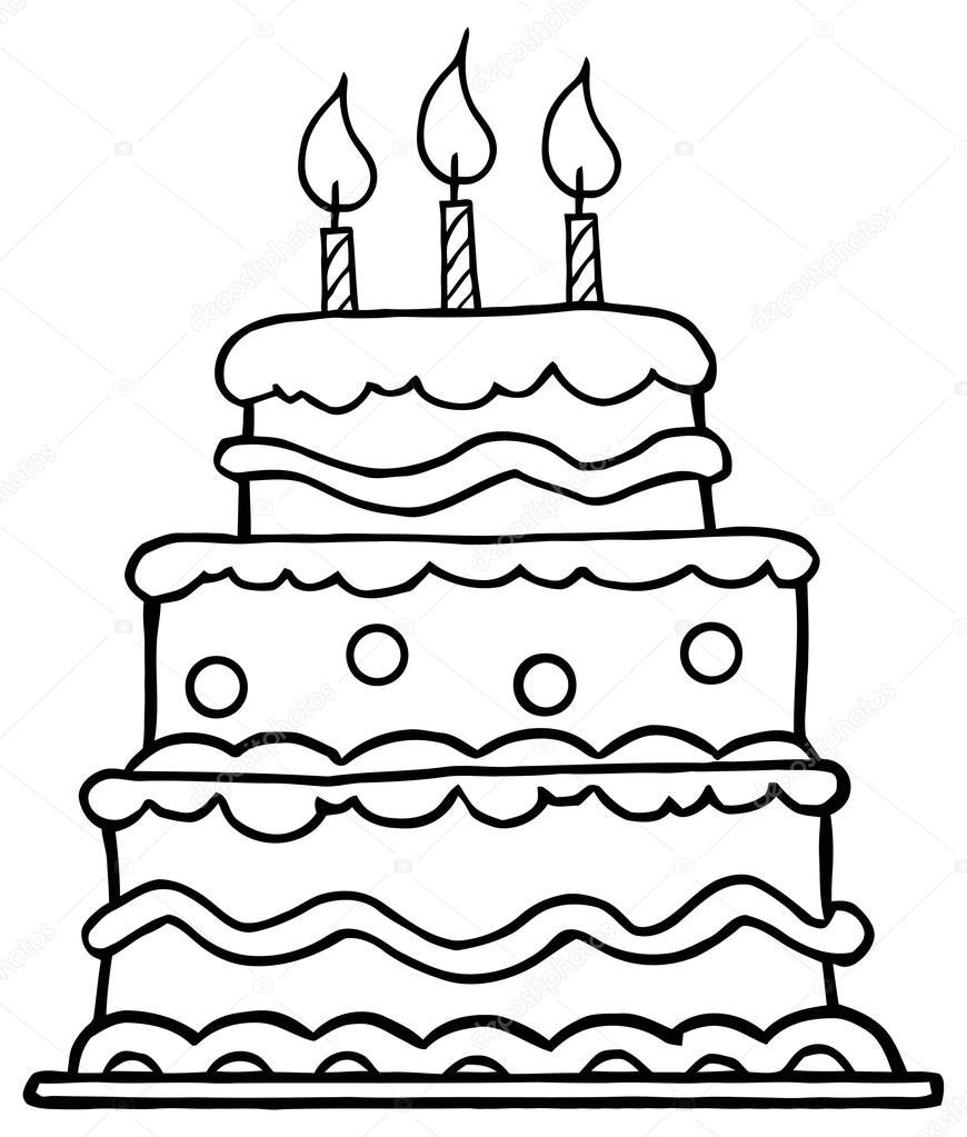 pastel de la fiesta de cumpleaños — Archivo Imágenes Vectoriales ...