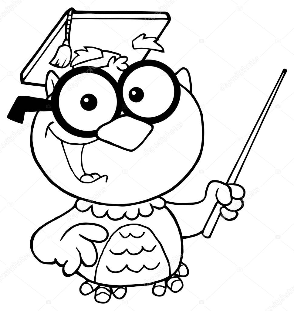 Owl Teacher Character Stock Vector C Hittoon 61085963