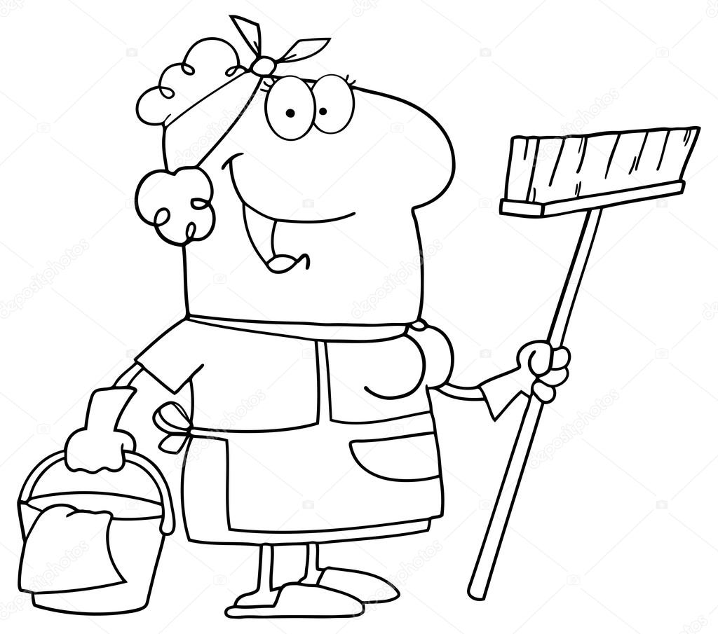 mother house cleaning coloring pages - photo#42
