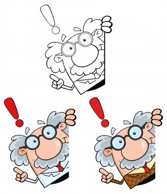 cartoon Professor character