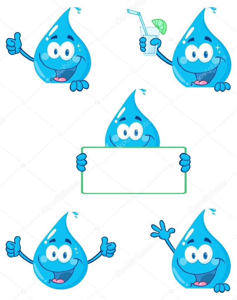 çizgi Film Su Damlası Stok Vektör Hittoon 61108471