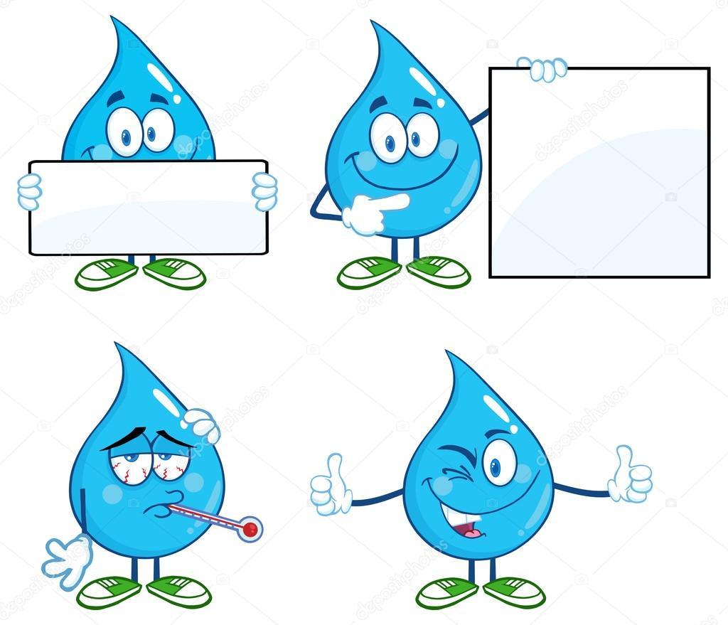 çizgi Film Su Damlası Stok Vektör Hittoon 61109827
