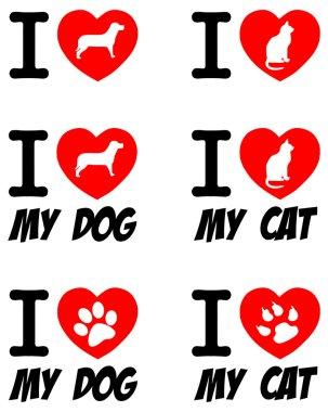 I love dog and I love cat