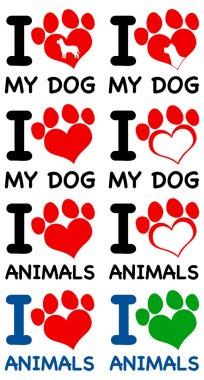 I love my dog and animals