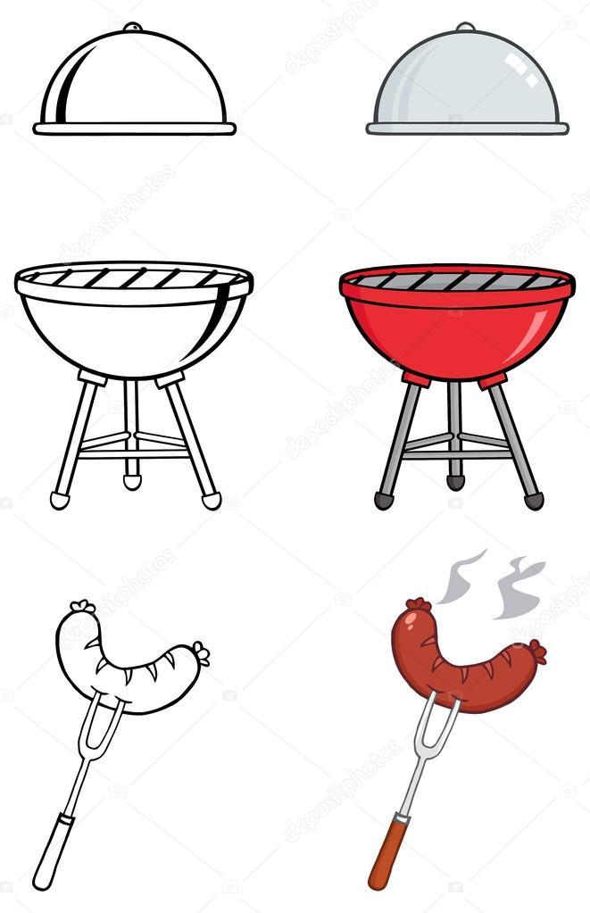 cartoon Barbecue set