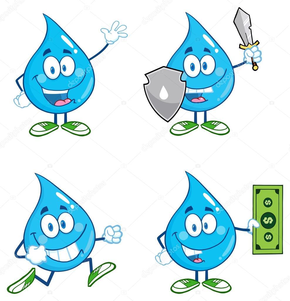 Su Damlası Boyama Sayfası