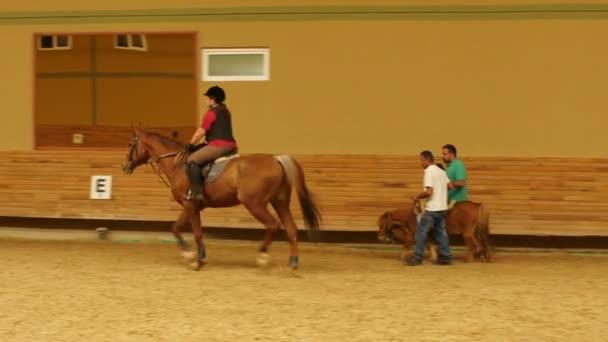Dítě učí na koni