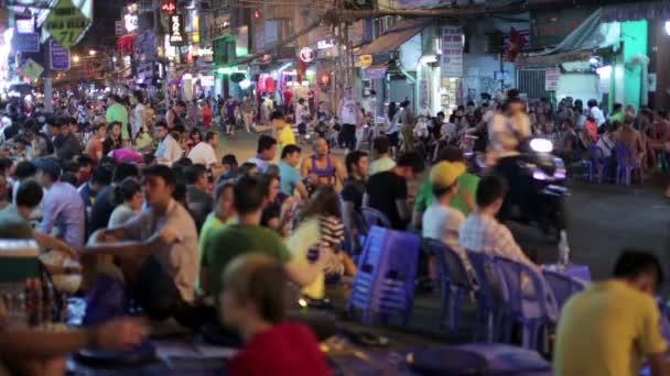 Nightlife at Pham Ngu Lao Street