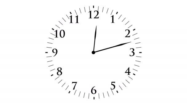 Uhrzeit mit Sekunden — Stockvideo © kagemusha