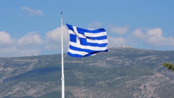 Řecká vlajka na Akropole