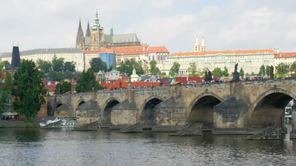 Charles bridge and castle in Prague