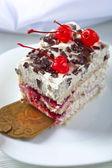 Torta casalinga con le ciliegie e cioccolato