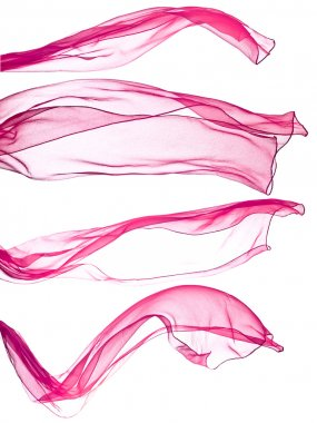 pink scarf isolated on  white