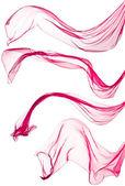 červený šátek, izolované na bílém