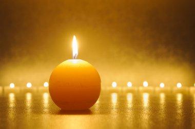 burning candle lights