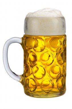 big glass of lager beer from Bavaria