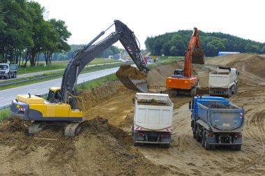 german Autobahn A8 under construction