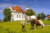 Fotografie Wahrzeichen-Kirche wies in Bayern