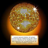 Zlatá disco koule deska