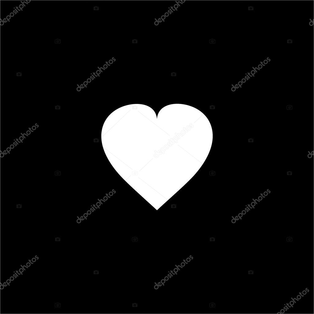 Sfondo Sfondi Neri Con Cuori Cuore Bianco Su Sfondo Nero