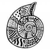 Zentangle stylizované shell