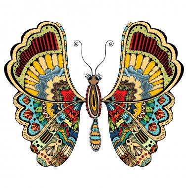 ornate zentangle butterfly
