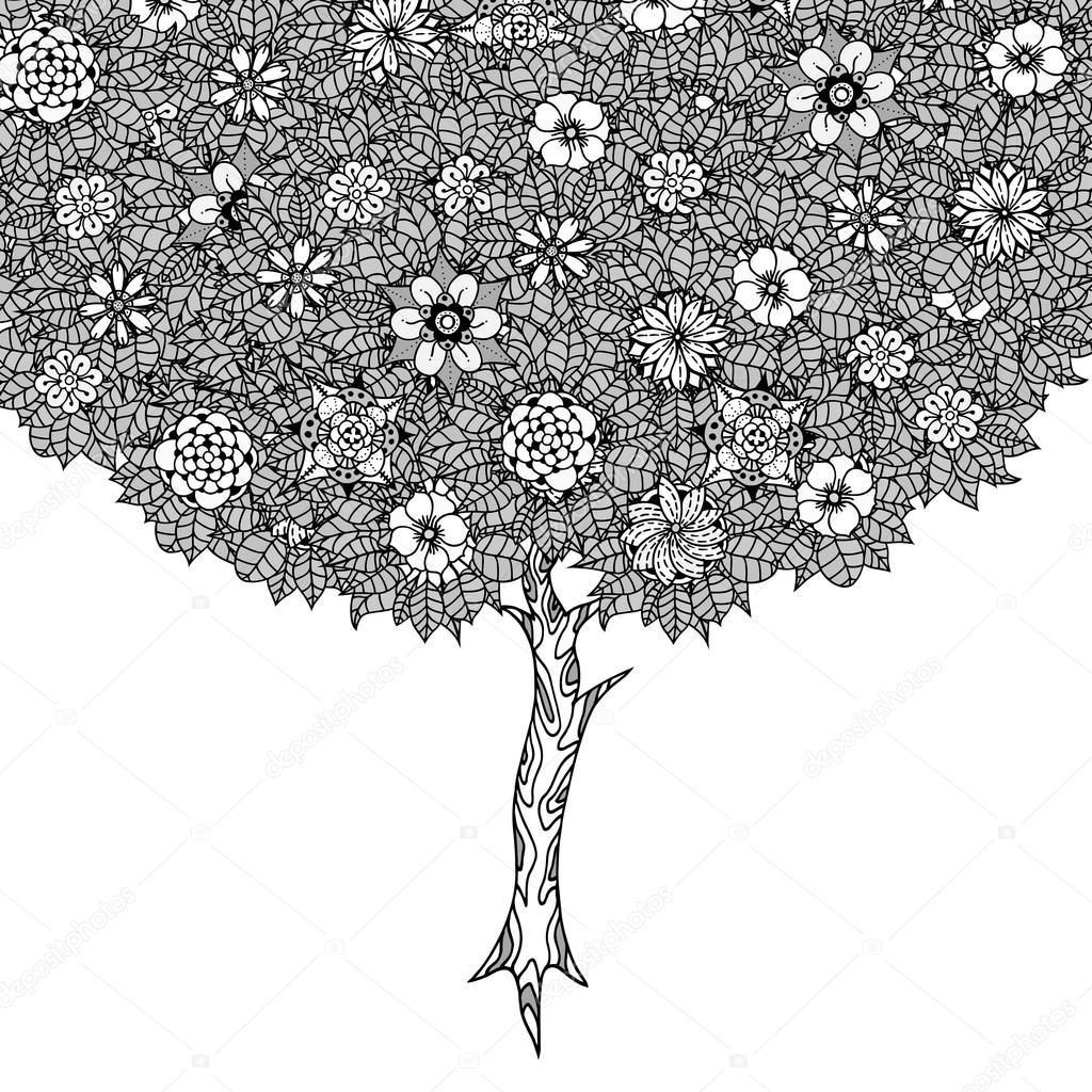 árbol con hojas — Archivo Imágenes Vectoriales © frescomovie #102312218