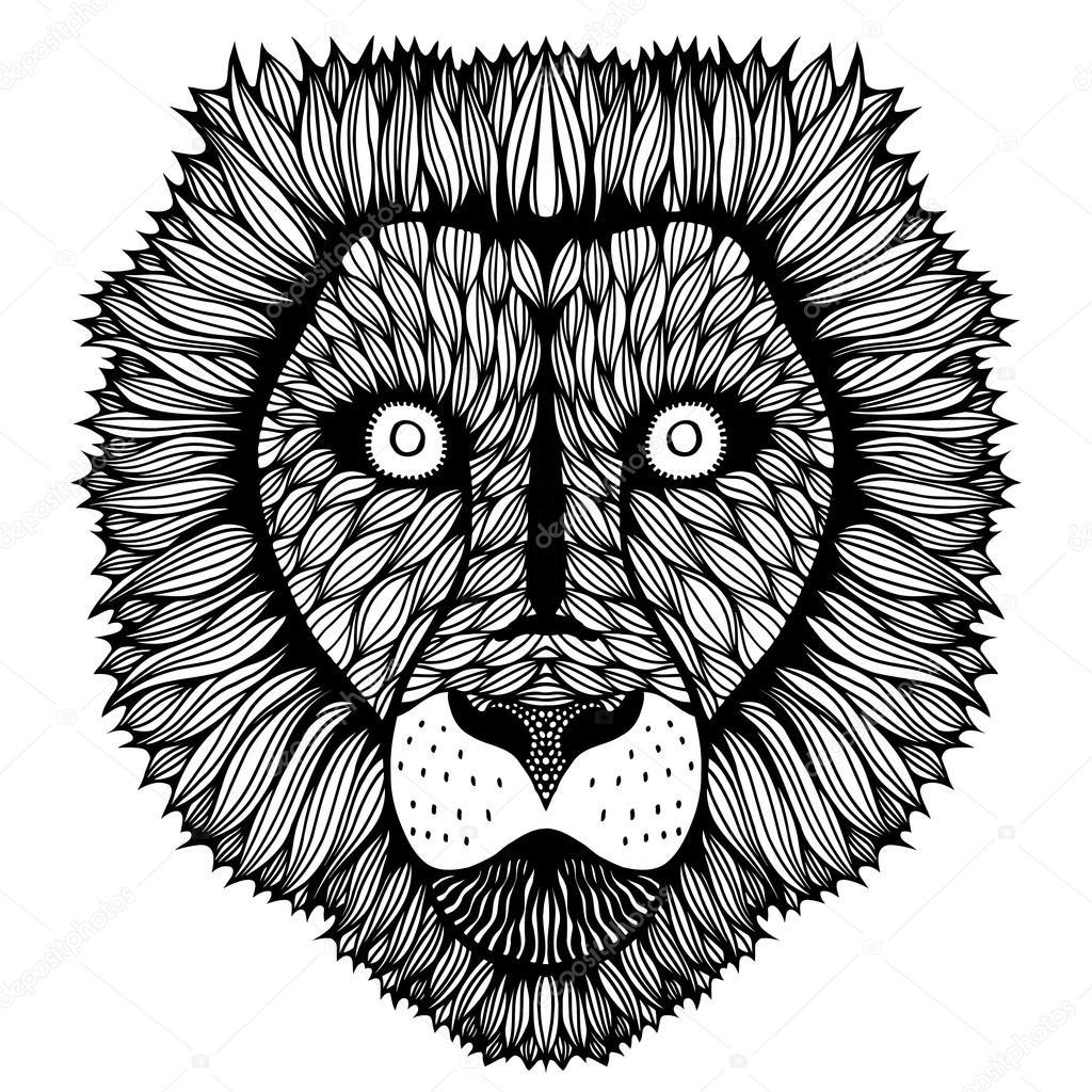 Stylized tiger face | Zentangle stylized Tiger face  — Stock