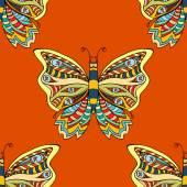 Bezešvé vzor motýl