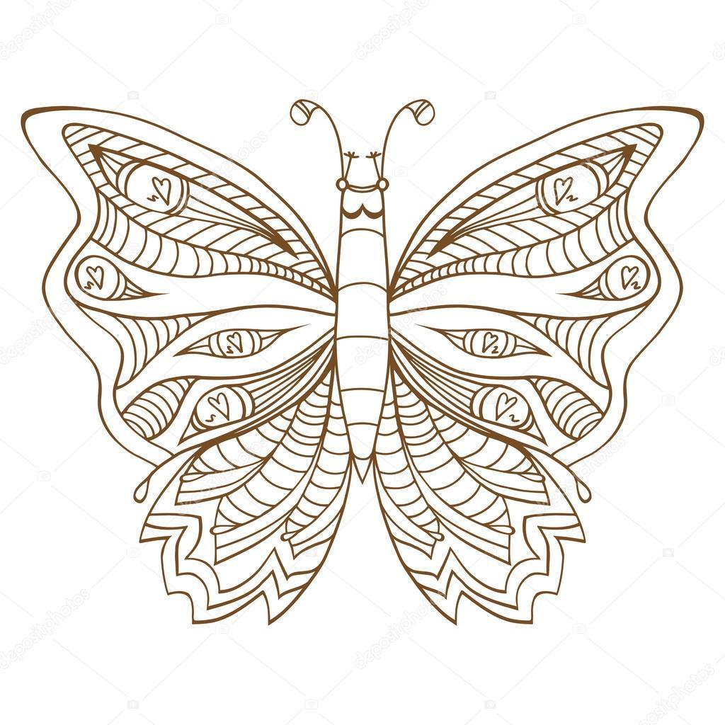 Illustrazione Vettoriale Di Farfalla Vettoriali Stock
