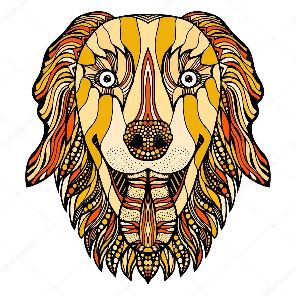 Собачья голова — Векторное изображение © frescomovie ...