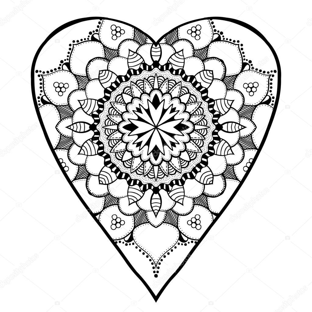 Kalp şeklinde Desen Stok Vektör Frescomovie 108767420