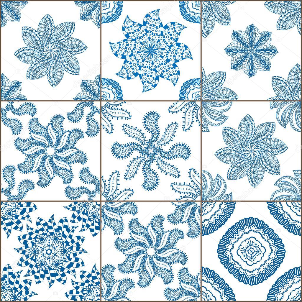 Collezione di piastrelle pavimento ornament vettoriali - Stock piastrelle 2 euro ...
