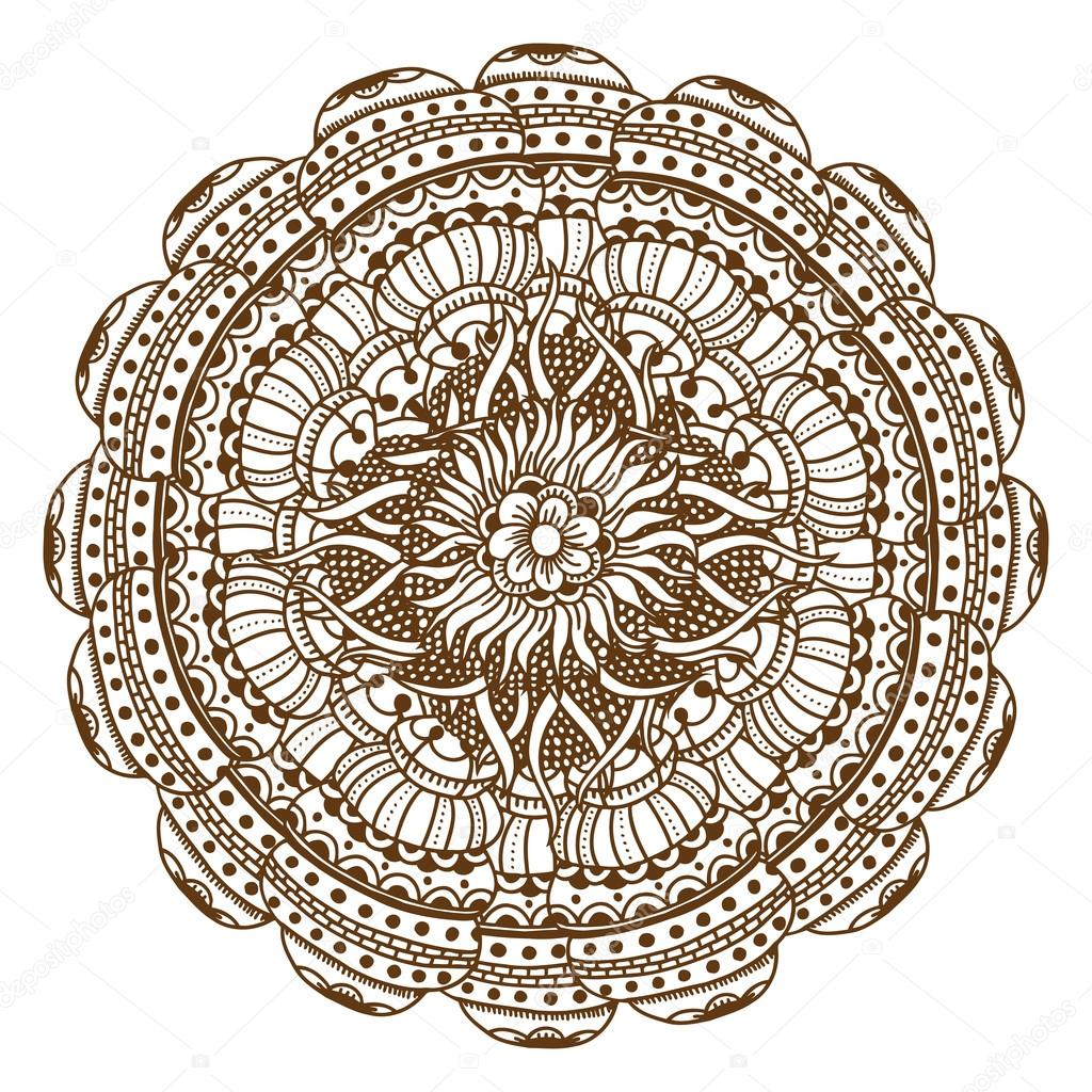 Mehndi Henna Tattoo Mandala Stock Vector C Frescomovie 122718182