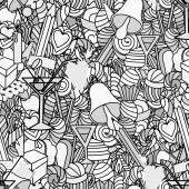 Fényképek Háttér, doodle varrat nélküli mintát. Szerelem és édességek