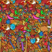 Fényképek Aranyos doodle varrat nélküli mintát. Szerelem és édességek